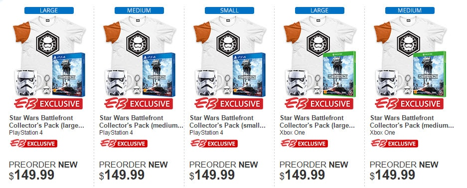 Star Wars Battlefront Collectors Pack