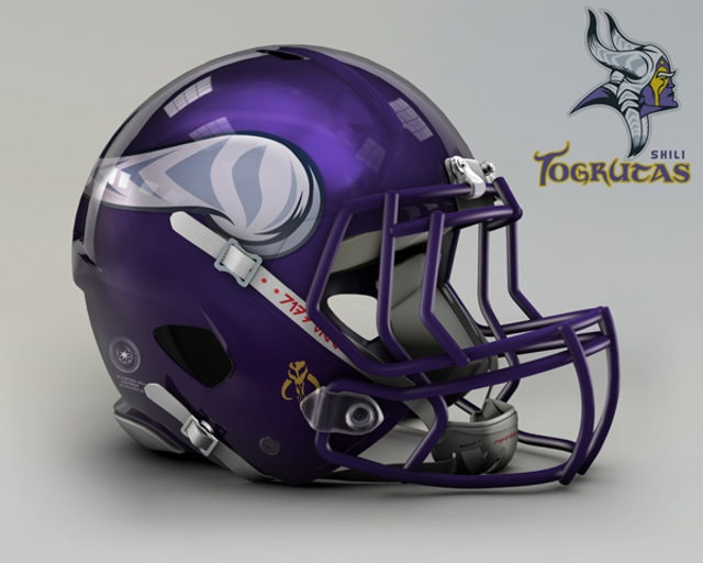 NFL Star Wars Football Helmet - Vikings