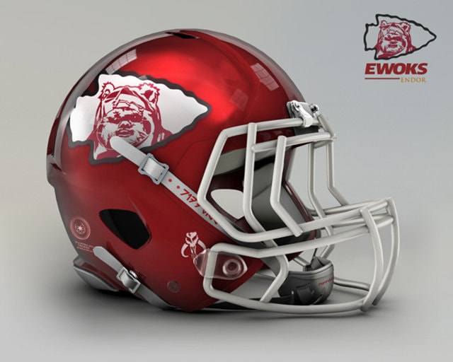 NFL Star Wars Football Helmet - Chiefs