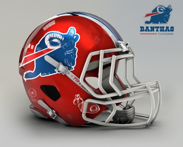 NFL Star Wars Football Helmet - Bills