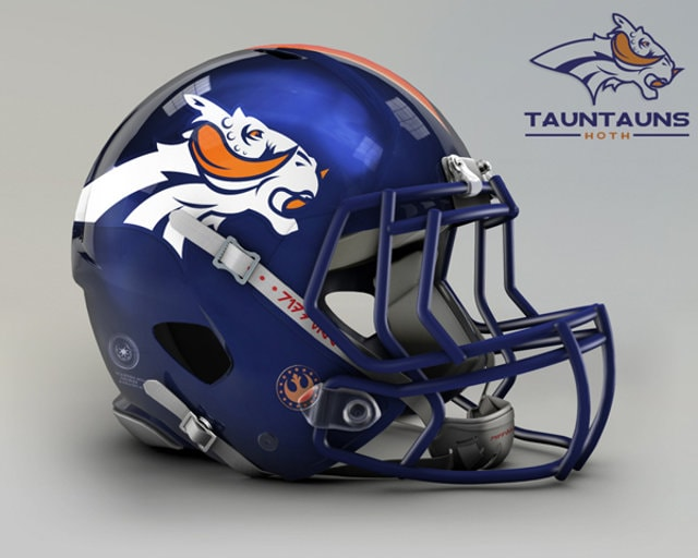 NFL Star Wars Football Helmet - Broncos