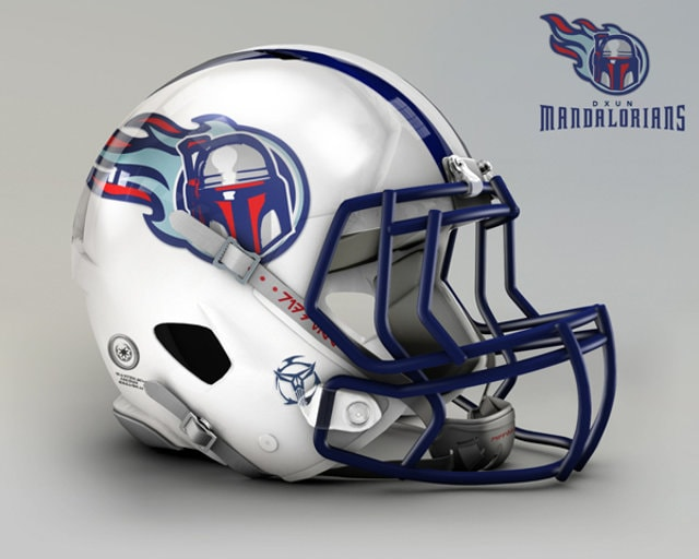 NFL Star Wars Football Helmet -Titans
