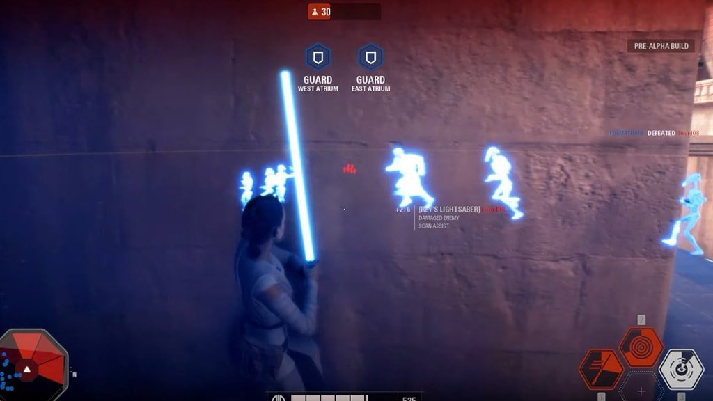 Rey using her Insight special ability